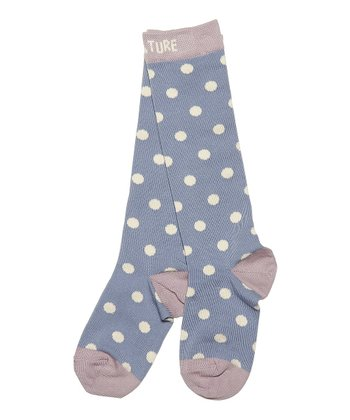 Faded Denim Polka Dot Elsia Socks