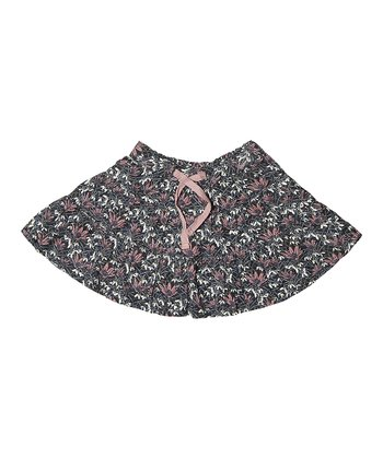 Ombré Blue Floral Shamira Skirt - Infant & Girls