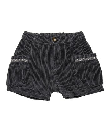 Ombré Blue Birtha Corduroy Shorts - Girls