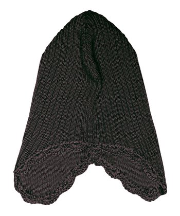 Dark Coffee Muggi Wool Earflap Beanie