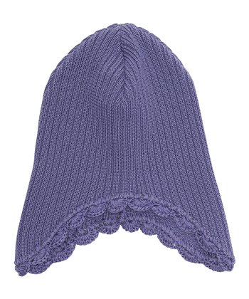 Purple Heart Muggi Wool Earflap Beanie