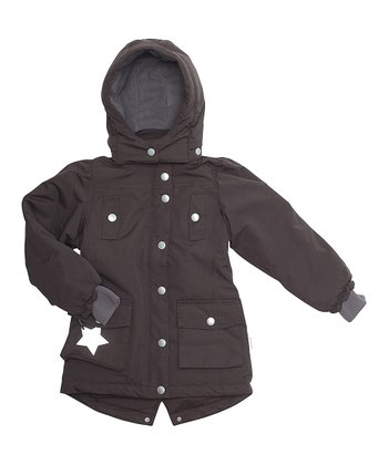 Dark Coffee Winnia Jacket - Girls
