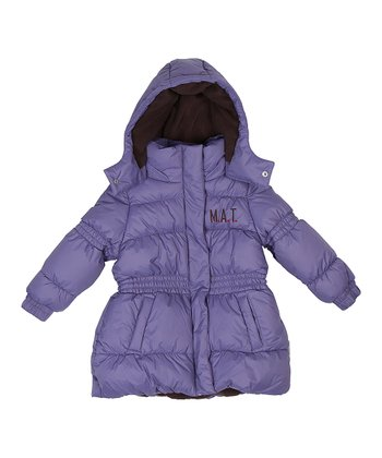 Twilight Purple Katharina Puffer Coat - Girls