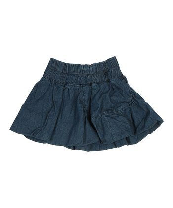 True Navy Manda Denim Skirt - Girls
