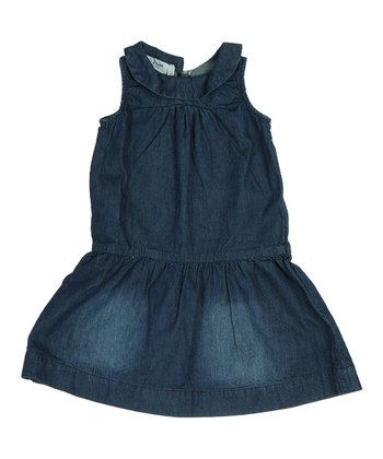 True Navy Manola Denim Dress - Girls