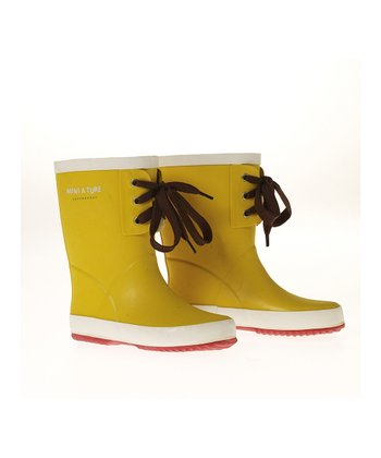 Snap Yellow Jerry Rain Boot
