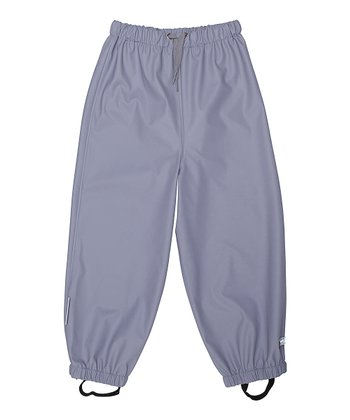 Lavender Gray Robin Rain Pants - Infant & Girls