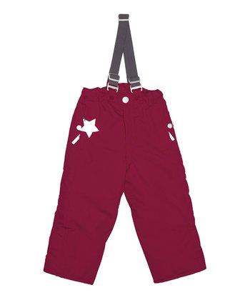 Rumba Red Willy Suspender Snow Pants - Toddler & Girls