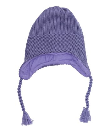 Purple Heart Mire Wool Earflap Beanie