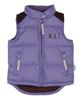 Twilight Purple Kossi Puffer Vest - Toddler & Girls