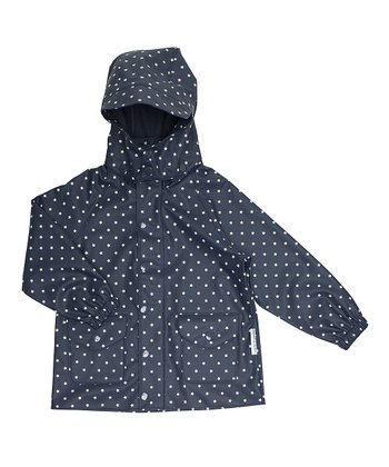 Ombré Blue Polka Dot Julien Rain Jacket - Infant, Toddler & Boys