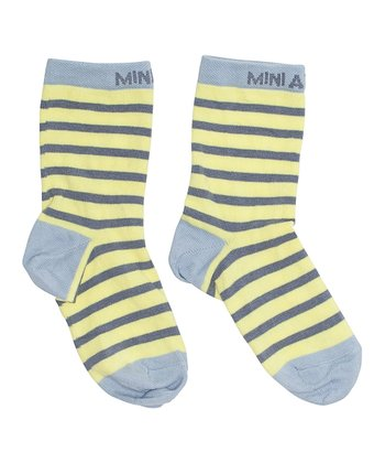 Canary Yellow Stripe Ebert Socks