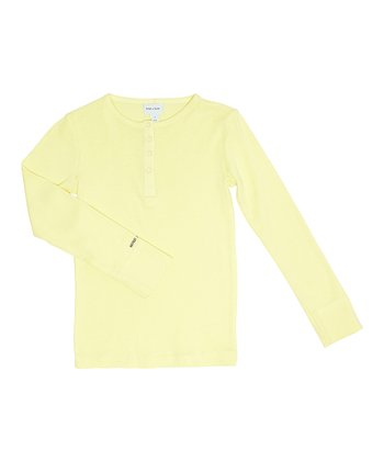 Canary Yellow Mico Henley - Toddler & Boys