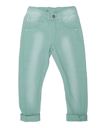 Misty Mint Peter Cuffed Jeans - Toddler & Boys