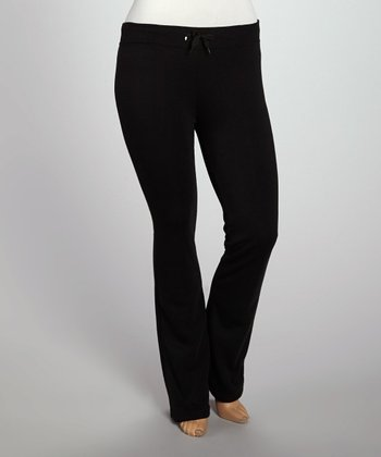 Black Fleece Lounge Pants - Plus