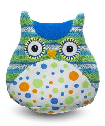Blue Polka Dot Lil' Hoot Owl Plush Toy