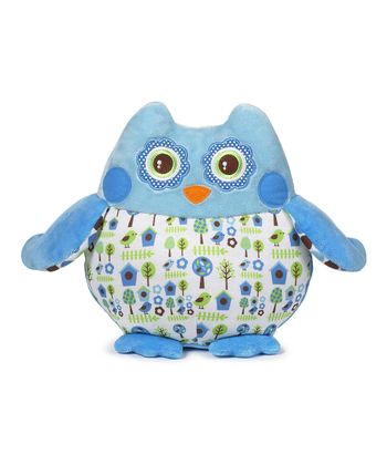Blue Birdhouse Owl Plush Toy