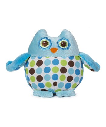 Blue & Green Polka Dot Owl Plush Toy