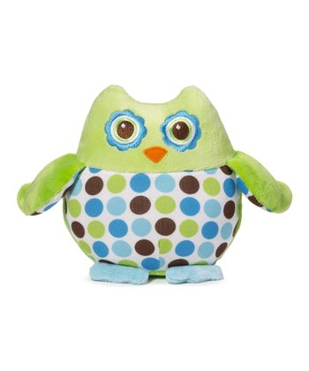 Green & Blue Polka Dot Owl Plush Toy