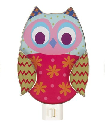 Pink & Green Owl Night-Light