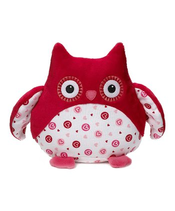 Red & White Sweetheart Owl Plush Toy