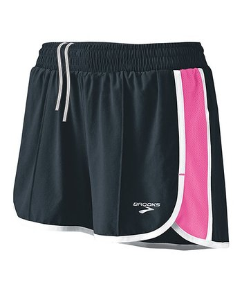 Anthracite & Brite Pink Epiphany Stretch Short II - Women