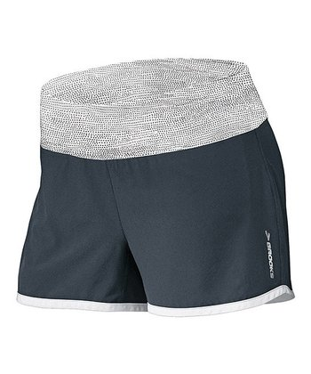 Anthracite & White Mist Glycerin 2-in-1 Shorts - Women