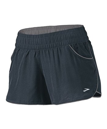 Anthracite & Iron Versatile Low-Rise Woven Shorts - Women