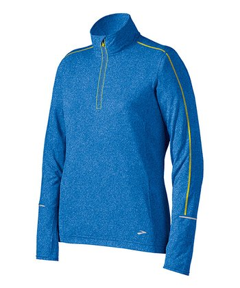 Heather Neptune Essential Long-Sleeve Zip II - Women