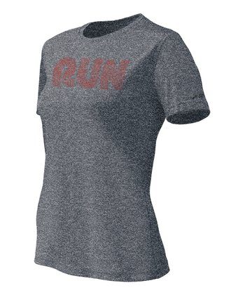 Anthracite 'Run' Mist Tee - Women