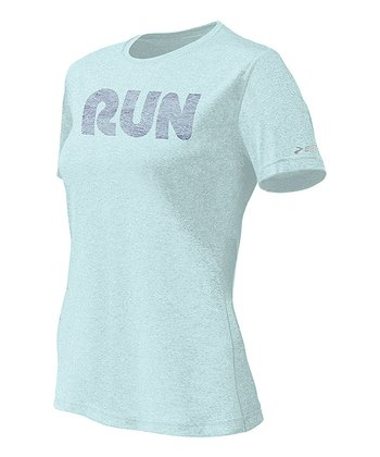 Seafoam 'Run' Mist Tee - Women