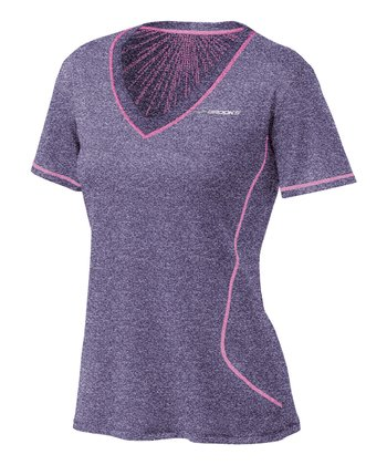 Heather Eggplant Versatile EZ Short-Sleeve Top - Women