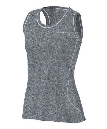 Heather Anthracite Versatile EZ Racerback Tank - Women