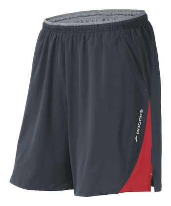 Anthracite & Lava Rogue Runner III Shorts - Men