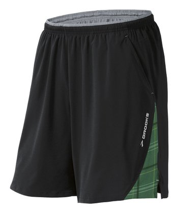 Black & Envy Plaid Rogue Runner III Shorts - Men