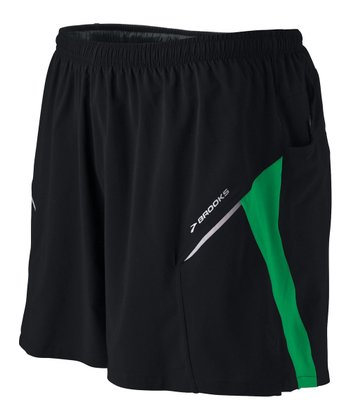 Black & Brite Green Sherpa Short III - Men