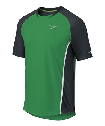 Envy & Anthracite Pro Train Short-Sleeve Top - Men