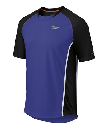 Ultramarine & Black Pro Train Short-Sleeve Top - Men