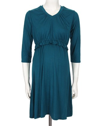 Teal Irene  Nursing Dress