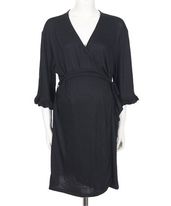 Black Katherine Nursing Robe