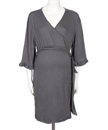Gray Katherine Nursing Robe