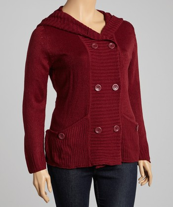 Garnet Pocket Hooded Cardigan - Plus