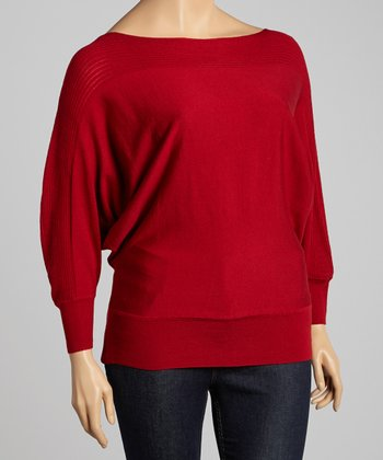 Ruby Ribbed Dolman Sweater - Plus