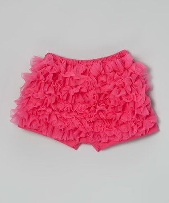 Hot Pink Ruffle Shorts - Infant, Toddler & Girls