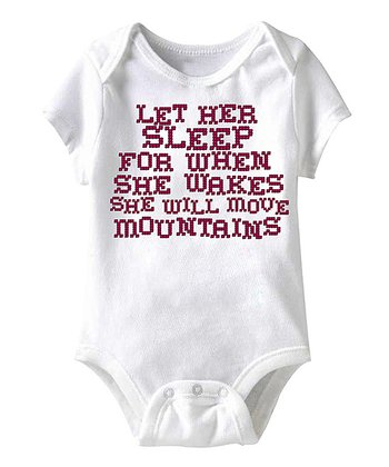 White 'Let Her Sleep' Bodysuit - Infant