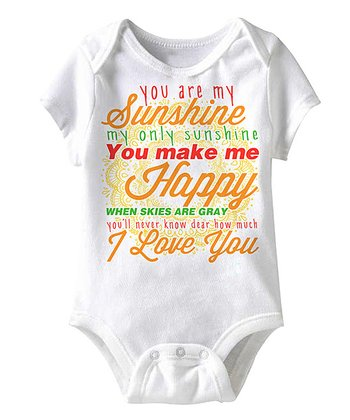White 'You Are My Sunshine' Bodysuit - Infant