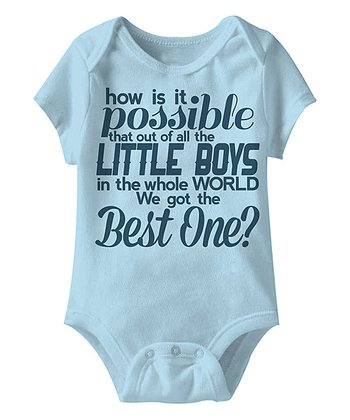 Light Blue Best Little Boy Bodysuit - Infant