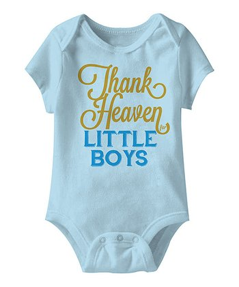Light Blue 'Thank Heaven for Little Boys' Bodysuit - Infant