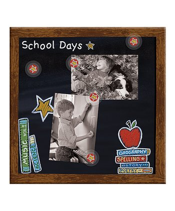 School Days Canvas Magnetic Memo Board