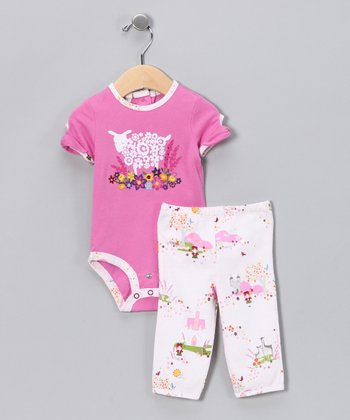 Pink Sheep Bodysuit & Pant - Infant